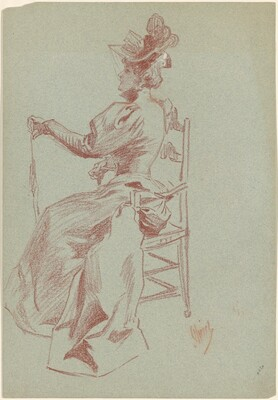 Elegant Lady Seated in a Chair
