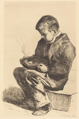 Boy Eating Soup (Enfant mangeant sa soupe)