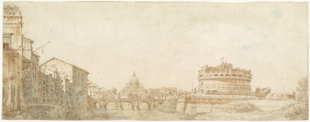 View of Rome with the Dome of Saint Peter's and the Castel Sant' Angelo