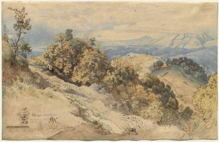 Sun and Rain in the Serpentara near Olevano
