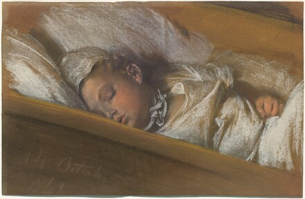 An Infant Asleep in His Crib