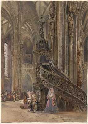 The Interior of the Cathedral of Saint Stephen at Vienna