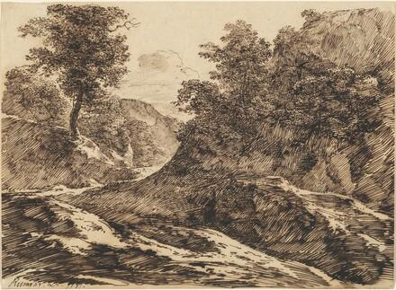 A Path through a Hilly Landscape