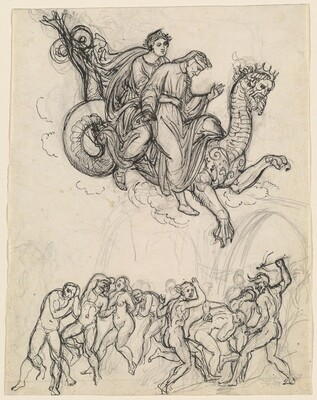 Dante and Virgil Riding on the Back of Geryon
