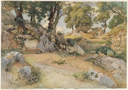 Rocks and Oaks in the Serpentara