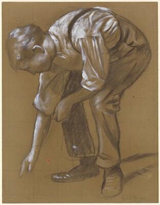 A Man Bending Over