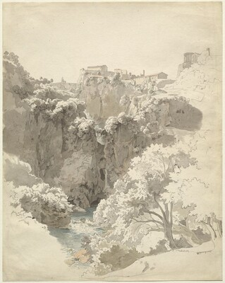 Tivoli and the Temple of the Sibyl Above the Aniene Gorge