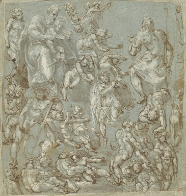 Saint Joseph and the Christ Child with Angels and Putti