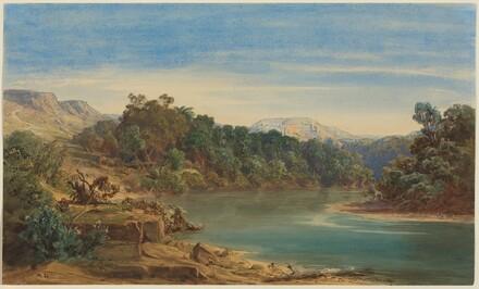 Along the Jordan River (recto)