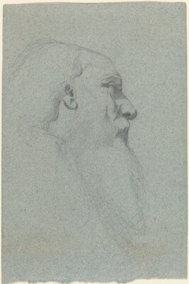 Head of a Bearded Man, Looking Right