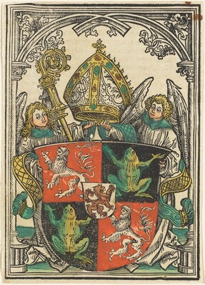 The Coat of Arms of Wigeleus von Fröschel, Bishop of Passau