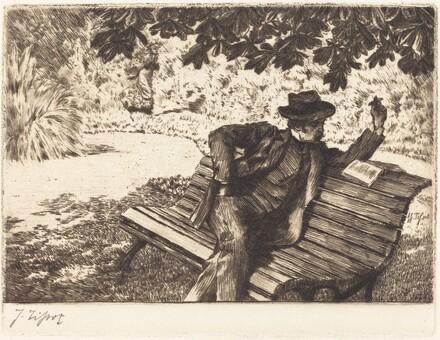Denoisel Reading in the Garden