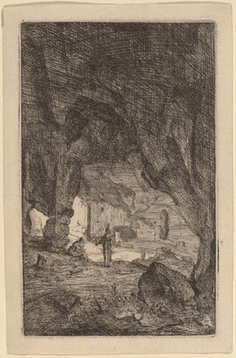 Grotto with Friars