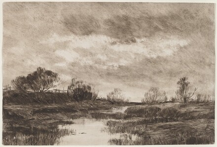 A Pastoral Landscape with a Stream