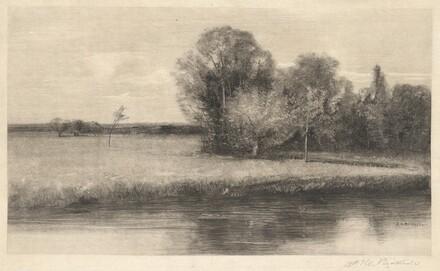 A Sun-dappled Meadow by a River