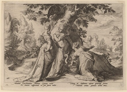 The Daughters of Cecrops Open the Casket Entrusted to Them by Minerva