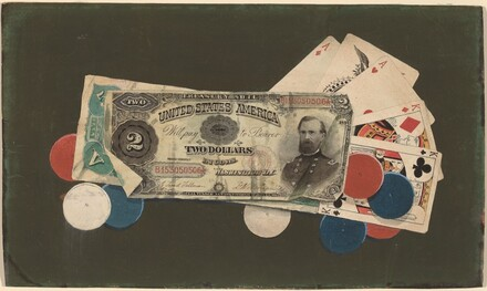 Trompe l'Oeil: A Full House with Chips, $2 and $5 Bills