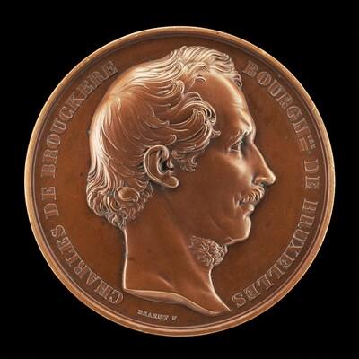 Charles de Brouckère, 1796-1860, Mayor of Brussels 1848 [obverse]