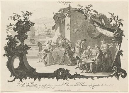 Das Bretspiel (Ladies and Gentlemen Playing Board Games)