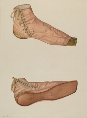 Woman's Silk Shoe