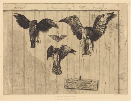 Le Haut d'un battant de porte (Birds Nailed to a Barn Door)