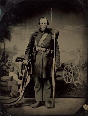 Portrait of a Civil War Soldier