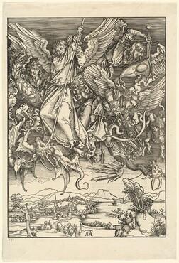 Saint Michael Fighting the Dragon