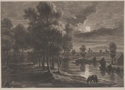Moonlit River Landscape