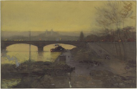 The Pont d'Alma at Twilight
