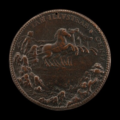 Philip as Apollo in a Chariot Drawn across the Sky by Four Horses [reverse]