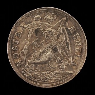 Angel with the Instruments of the Passion [reverse]