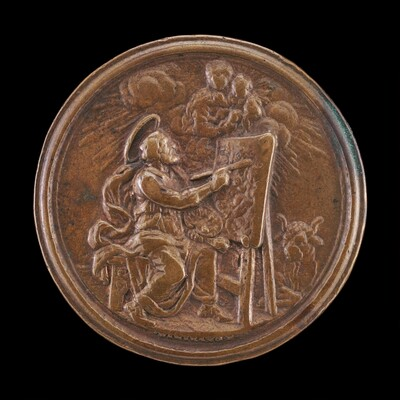 Saint Luke Painting the Virgin [reverse]