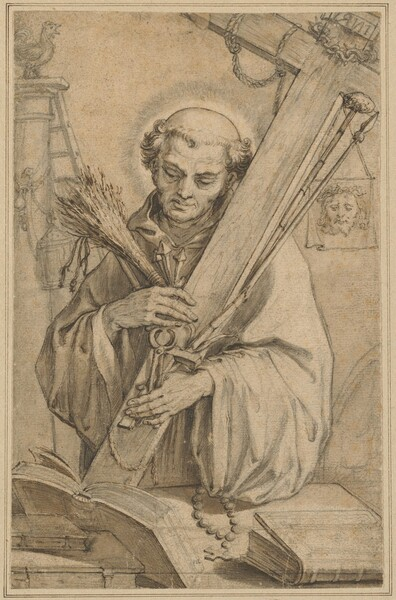 Saint Bernard of Clairvaux with the Instruments of the Passion