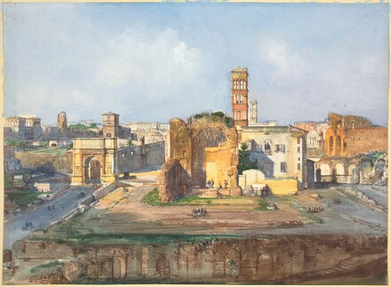 The Arch of Titus and the Temple of Venus and Rome near the Roman Forum