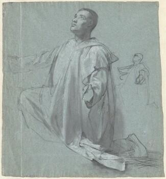 A Young Benedictine Monk Kneeling