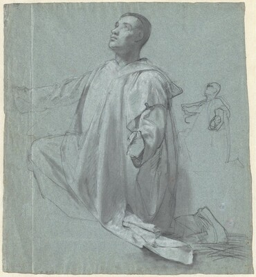A Young Benedictine Monk Kneeling