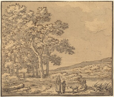 A Landscape with Three Figures and a Dog