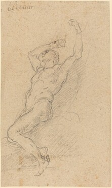 A Nude Man Chained to a Rock