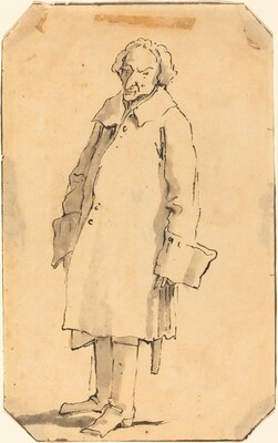 A Standing Man Wearing a Great Coat and Boots