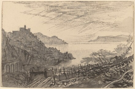View of a Bay from a Hillside (Amalfi)