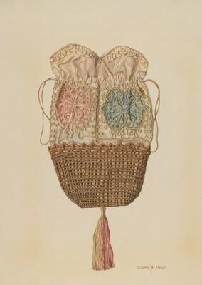 Silk-straw Reticule