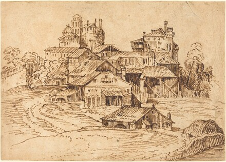 View of an Italian Town (after Titian or Domenico Campagnola)