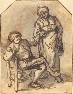 Two Peasants Drinking