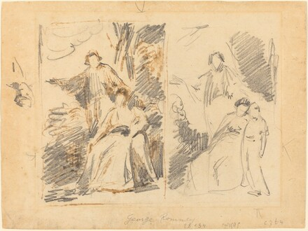 Two Studies for a Portrait of the Warren Family