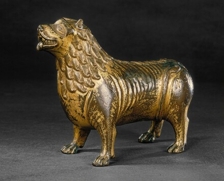 North French or Mosan 13th Century, Aquamanile in the Form of a Lion, c. 1200