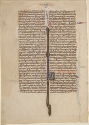 Manuscript Leaf from a Bible (Deuteronomy)
