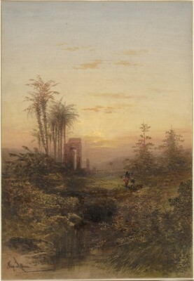 Sunset in an Oriental Landscape