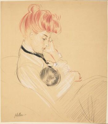 Madame Helleu Cradling Paulette in Her Arms
