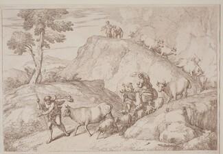 An Elderly Shepherd Leading the Flock