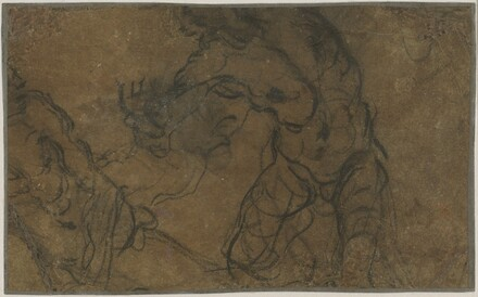Two Male Figures in Motion (verso)